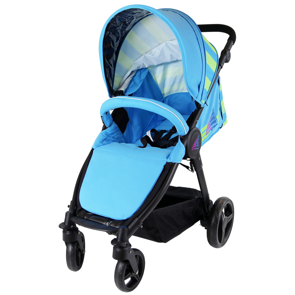 Sail Stroller - Ocean Lime Includes Bumper Bar Rain cover Bootcover - Baby Travel UK  - 9