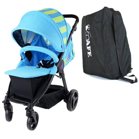 Sail Stroller - Ocean Lime Includes Boor Cover, Travel Bag, Rain Cover, Bumper Bar