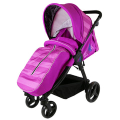 iSafe Sail Baby Stroller - Plum Purple Stripe - Baby Travel UK  - 5
