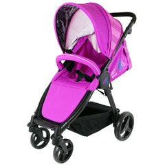 iSafe Sail Baby Stroller - Plum Purple Stripe - Baby Travel UK  - 6