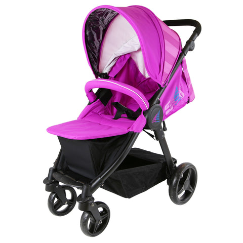 iSafe Sail Baby Stroller - Plum Purple Stripe