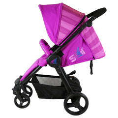iSafe Sail Baby Stroller - Plum Purple Stripe - Baby Travel UK  - 7