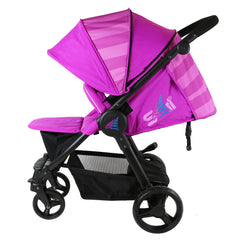 iSafe Sail Baby Stroller - Plum Purple Stripe - Baby Travel UK  - 3