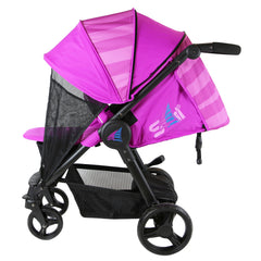 iSafe Sail Baby Stroller - Plum Purple Stripe - Baby Travel UK  - 4