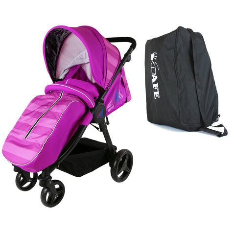 Sail Stroller - Plum Includes, Boot Cover, Travel Bag, Rain Cover, Bumper Bar