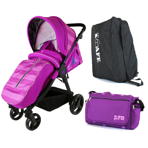 Sail Stroller - Plum Includes Bag, Boor Cover, Travel Bag, Rain Cover, Bumper Bar