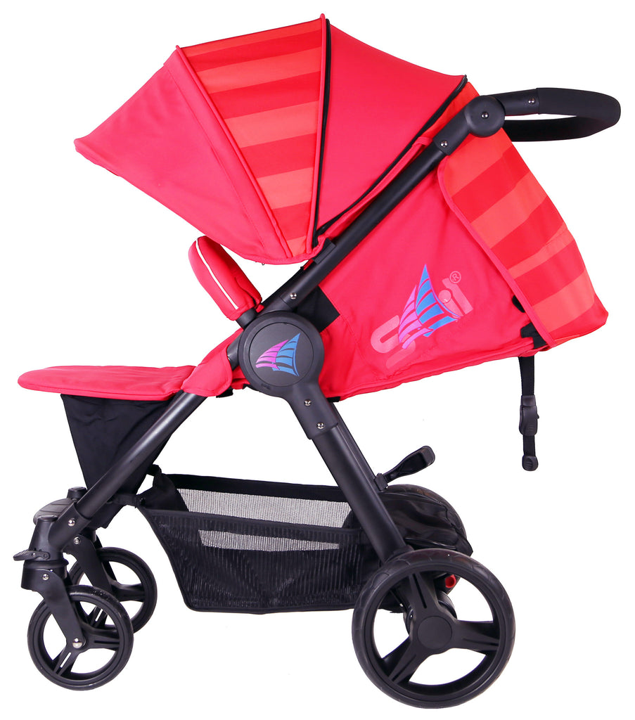 iSafe Sail Baby Stroller - Red - Baby Travel UK  - 2