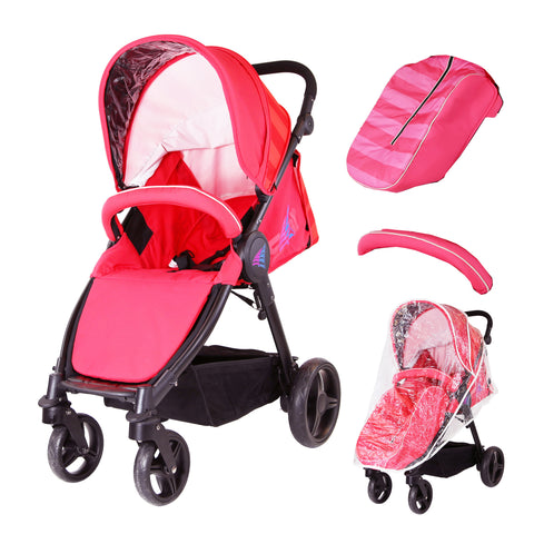 SALE!!! Sail Stroller - Red Includes Bumper Bar Rain cover Bootcover