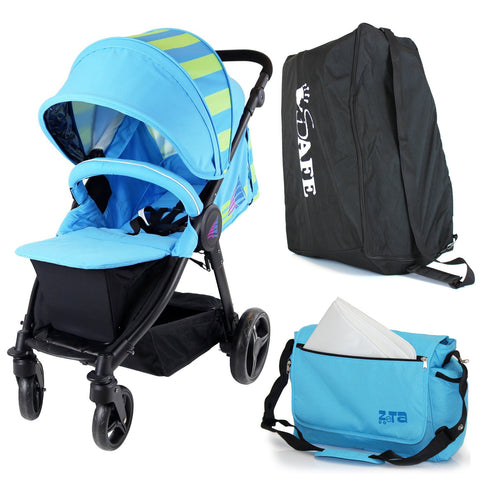 Sail Stroller - Ocean Lime Includes Bag, Boor Cover, Travel Bag, Rain Cover, Bumper Bar