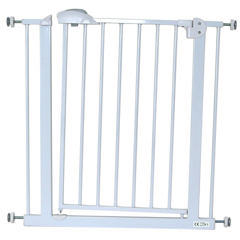 iSafe DeLuxe Safety Stair Gate 90° STOP OPEN & Auto-Close StairGate - White 75-85 cm