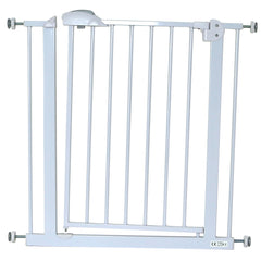 iSafe DeLuxe Stair Gate 90° STOP OPEN & Auto-Close StairGate - White 75-85 cm - Baby Travel UK  - 1