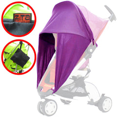 SUNNY SAIL Shade for SILVER CROSS 3D PRAMETTE Stroller shade parasol substitute - Baby Travel UK  - 10