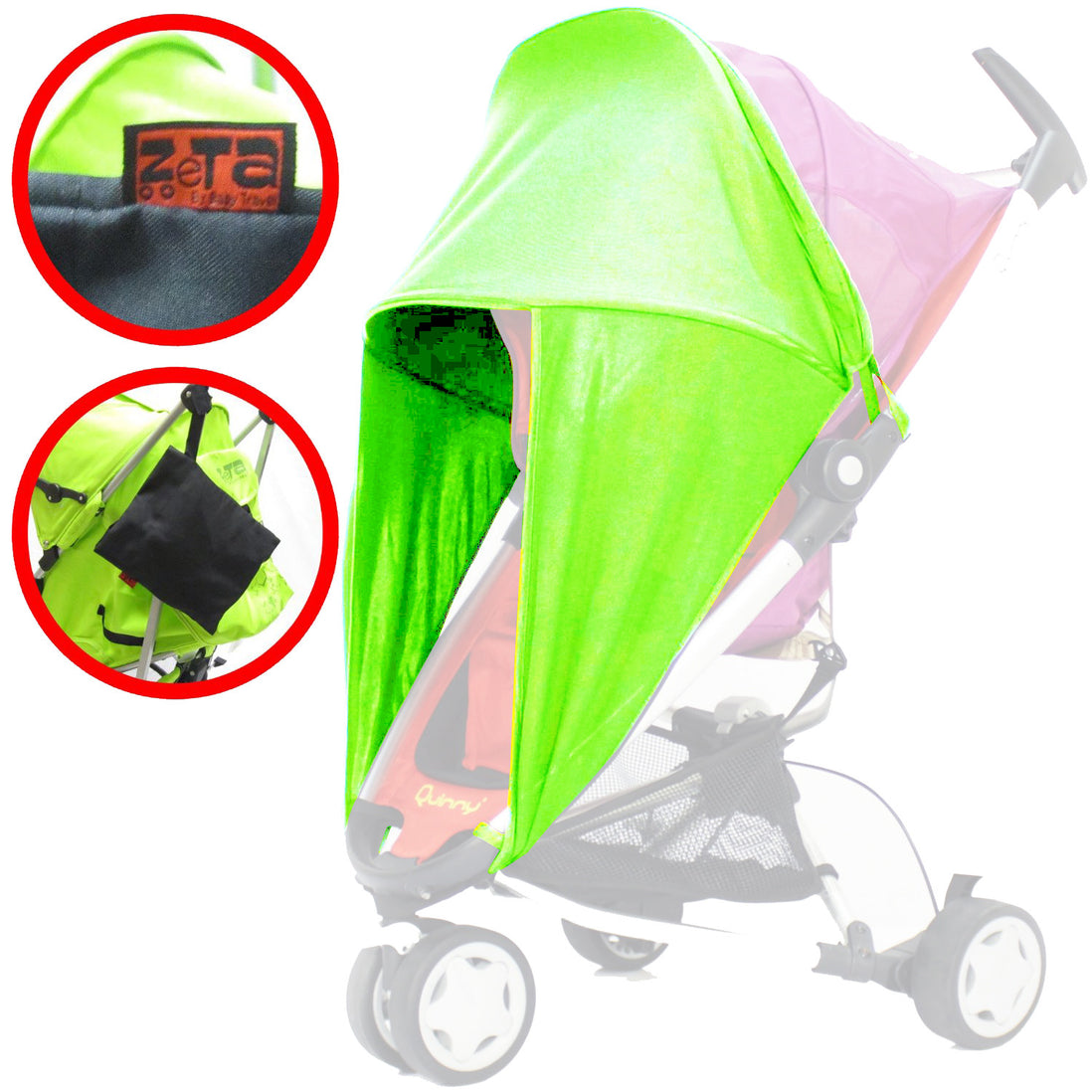 For-Your-Little-One Ba Parasol Compatible with Red Kite Push White