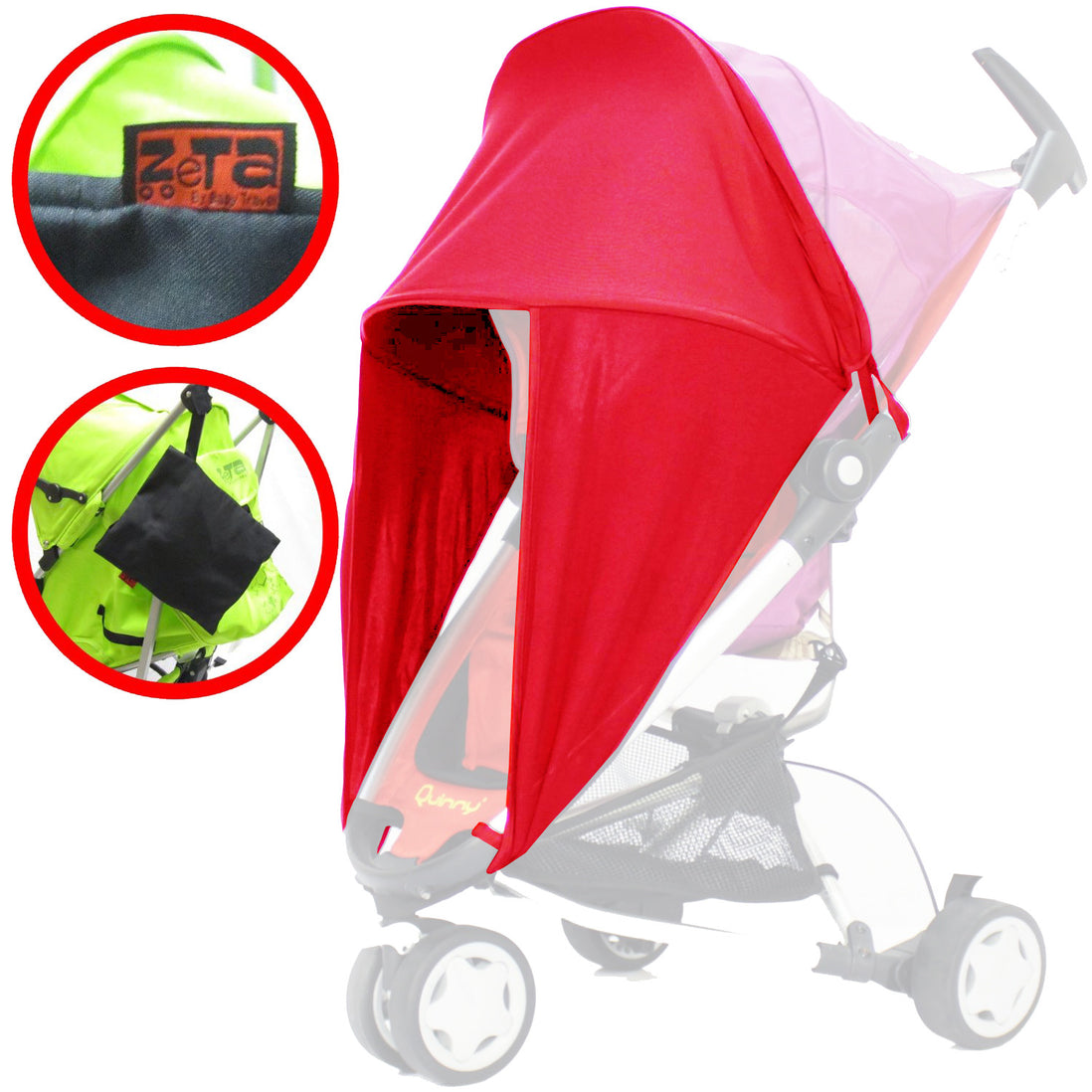 Baby Parasol compatible with Silver Cross 3D Hot Pink