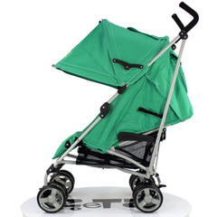 Zeta Vooom - Leaf With Luxury Buggy Stroller Padded Liner And RainCover - Baby Travel UK  - 4