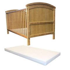 iSafe Cot Bed Toddler Bed - Liam (Antique) FREE Foam 3 inch Mattress