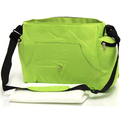 Baby Travel Zeta Changing Bag Plain LIME Complete With Changing Matt - Baby Travel UK  - 2