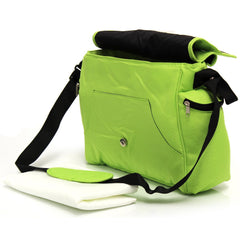 Baby Travel Zeta Changing Bag Plain LIME Complete With Changing Matt - Baby Travel UK  - 3