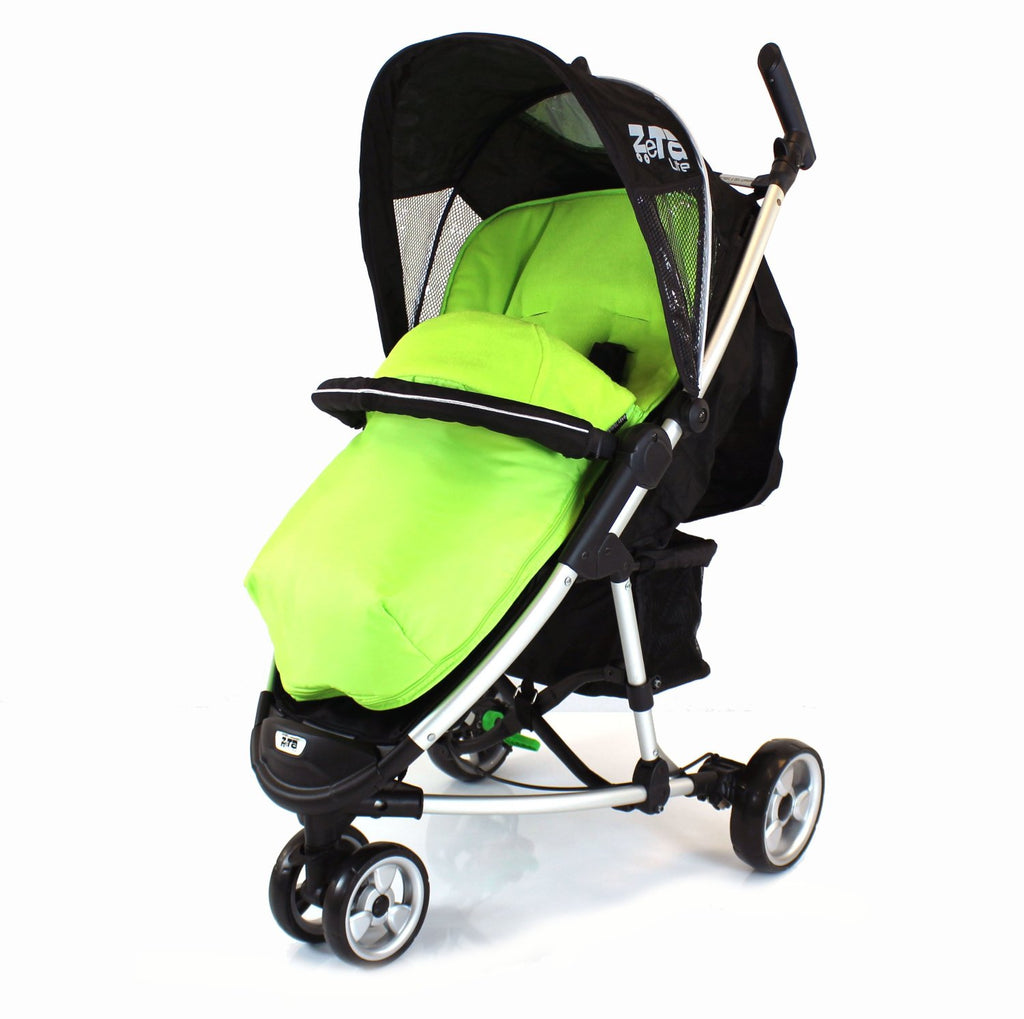 Lime Footmuff To Fit Baby Jogger 3 Wheeler Buggy. - Baby Travel UK  - 1