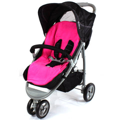 Fleece Lined Baby Footmuff Liner To Fit Britax Verve Raspberry Pink - Baby Travel UK  - 2