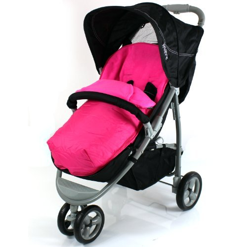 Deluxe 2 In 1 Footmuff Cosytoes Liner To Fit Mamas & Papas Luna - Pink - Baby Travel UK  - 1