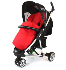 Deluxe 2 In 1 Footmuff For Quinny Zapp -  Red - Baby Travel UK  - 1