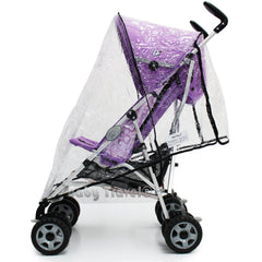 Raincover Throw Over For Chicco Winter London Stroller Buggy Rain Cover - Baby Travel UK  - 3