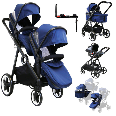 iSafe Me&You INLINE Royal Blue - With Second Seat, Car Seat & Isofix Base