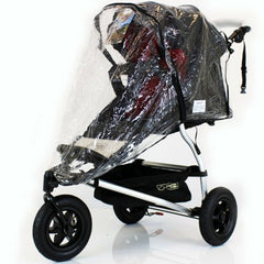 Rain Cover For Mountain Buggy Swift Urban Jungle Raincover Zipped - Baby Travel UK  - 3