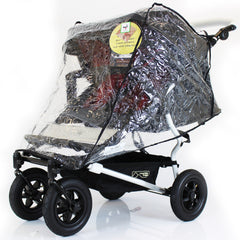 Raincover For Mountain Buggy Flint Chilli Twin Duet Rain Cover Double - Baby Travel UK  - 1