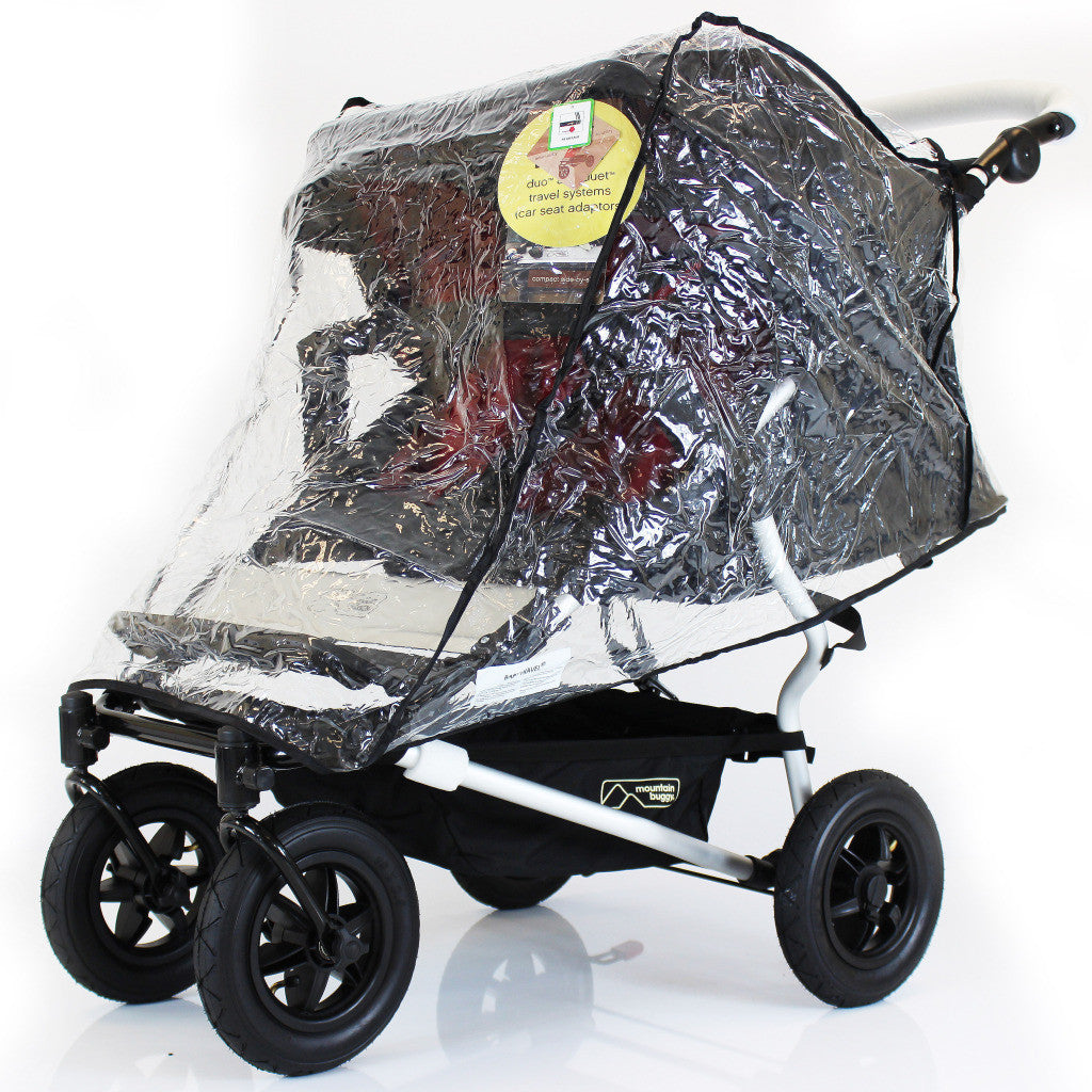 New Rain Cover Tofit Hauck Roadster 11 Duo Sl Twin Pram - Baby Travel UK  - 1