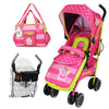 iSafe OPTIMUM Stroller Mea LUX Design + Parent Console + Changing Bag
