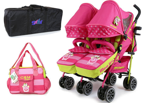 Bundle iSafe Twin Double Stroller Mea Lux Design