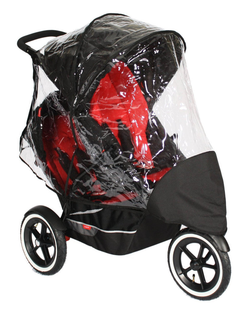 Rain Cover For Phil And Teds Dash Double Raincover - Baby Travel UK  - 1