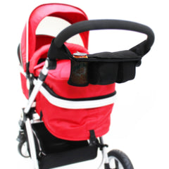 i-Safe System - Bow Dots Trio Travel System Pram & Luxury Stroller 3 in 1 Complete With Car Seat, Base, Bag, Bedding,Console Rain Covers & Foot Muffs - Baby Travel UK  - 52