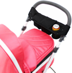 i-Safe System - Bow Dots Trio Travel System Pram & Luxury Stroller 3 in 1 Complete With Car Seat, Base, Bag, Bedding,Console Rain Covers & Foot Muffs - Baby Travel UK  - 53