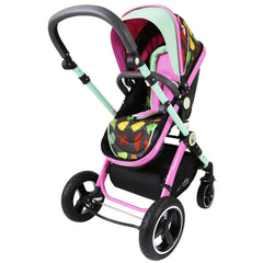 iSafe System - Owl & Button Trio Travel System Pram & Luxury Stroller 3 in 1 Complete With Car Seat - Baby Travel UK  - 14