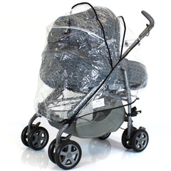 Universal Raincover For Silver Cross 3D Pushchair Ventilated Top Quality NEW - Baby Travel UK  - 4