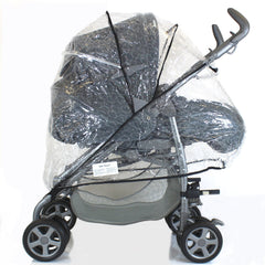 Universal Raincover For Silver Cross 3D Pushchair Ventilated Top Quality NEW - Baby Travel UK  - 2