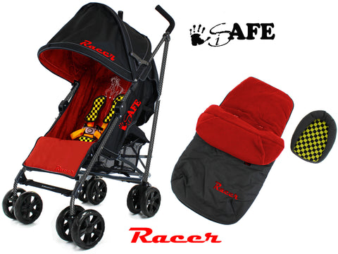 iSafe  - Racer Stroller Buggy Pushchair Complete With Foot Muff And Head Huger