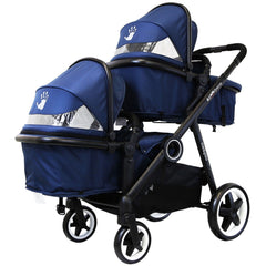 iSafe Me&You INLINE Royal Blue - With Second Seat, X2 iSafe Car Seats & X2 Isofix Base