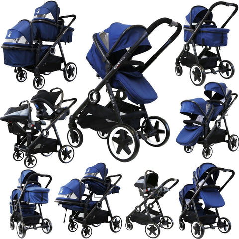 iSafe Me&You INLINE Royal Blue - With Second Seat & Car Seat