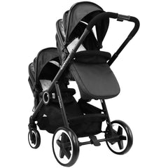 iSafe Me&You INLINE Black - With Second Seat, X2 iSafe Car Seats & X2 Isofix Base