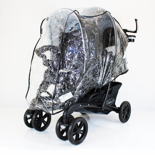 Universal Tandem Pushchair Raincover - Graco Stadium Safety 1st or similar - Baby Travel UK  - 1