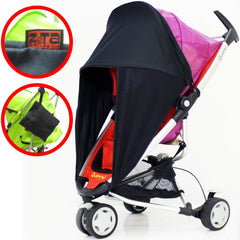 iSafe™ Sunny Sail Stroller Shade Fits Cosatto Memo Cabi Budi 50 Upf - Baby Travel UK  - 2