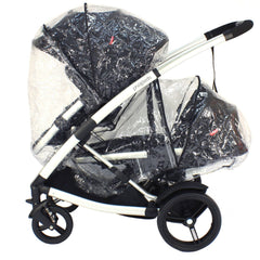 Phil & Teds Storm Rain Cover for Promenade Baby Pushchair Carrycot Tandem inline - Baby Travel UK  - 2