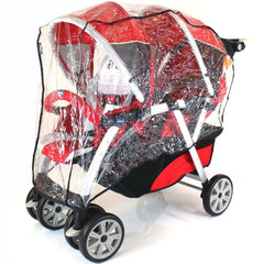 New Tandem Stroller Raincover For Chicco Together Travel System & Pram Mode - Baby Travel UK  - 2