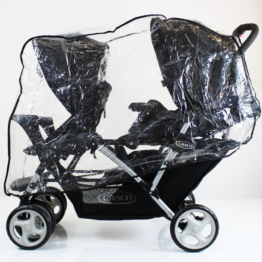 Raincover To Fit Baby Jogger Citi Select Tandem Twin Rain Cover - Baby Travel UK  - 1