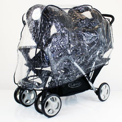 Raincover To Fit Baby Jogger Citi Select Tandem Twin Rain Cover - Baby Travel UK  - 2