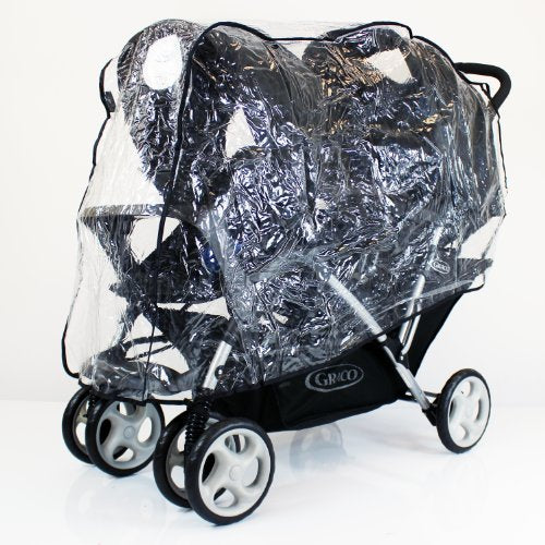 Raincover For Graco Stadium Duo Tandem - Baby Travel UK  - 1